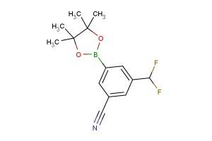 3-(difluoromethyl)-5-(4,4,5,5-tetramethyl-1,3,2-dioxaborolan-2-yl)benzonitrile