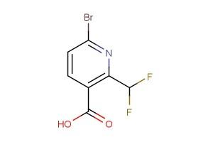 6-bromo-2-(difluoromethyl)nicotinic acid