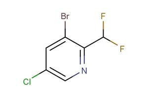 3-bromo-5-chloro-2-(difluoromethyl)pyridine