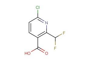 6-chloro-2-(difluoromethyl)nicotinic acid
